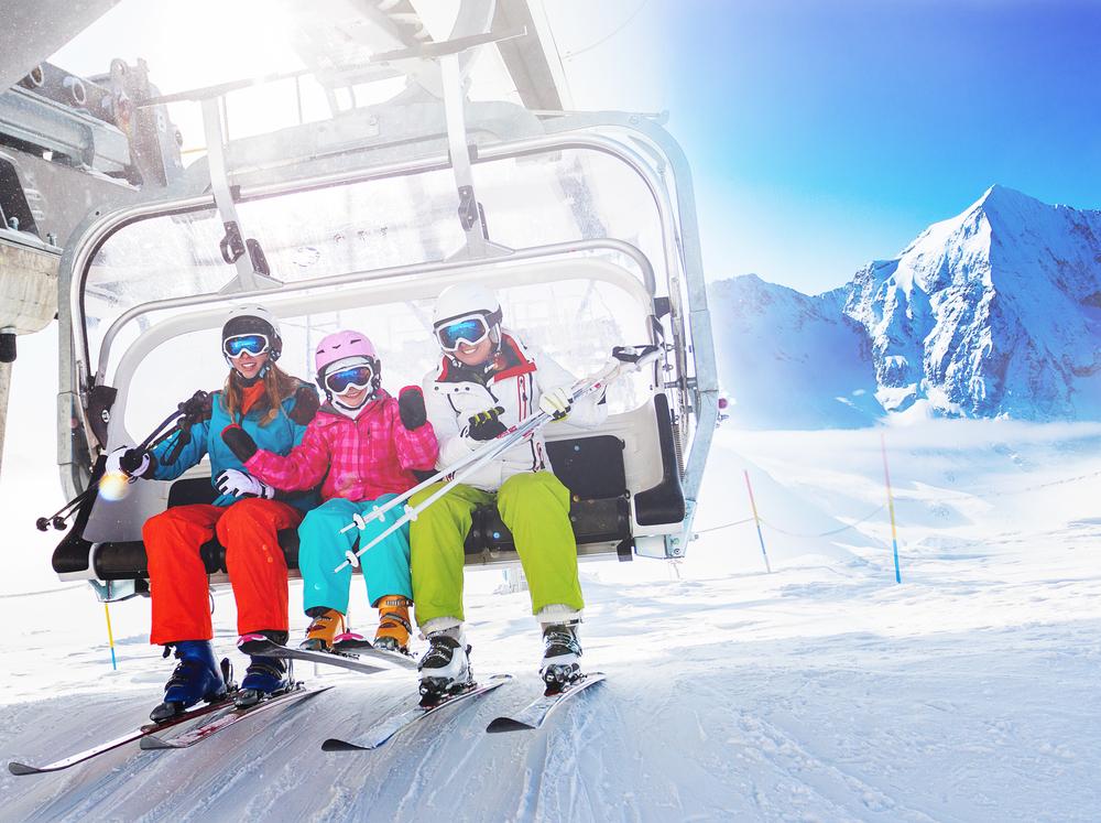 Bergbahn mit Familie
